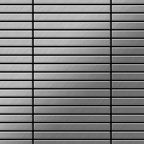 Mosaic tile massiv metal Stainless Steel brushed grey 1.6mm thick ALLOY Linear-S-S-B