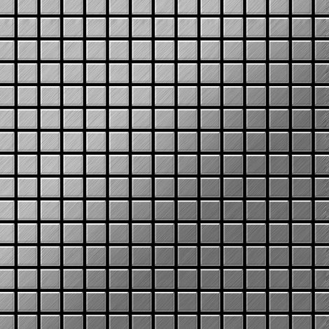 """main image of """"Mosaic tile massiv metal Stainless Steel brushed grey 1.6mm thick ALLOY Mosaic-S-S-B"""""""