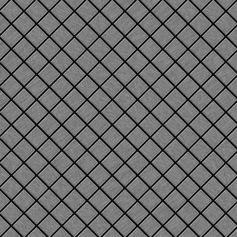 Mosaic tile massiv metal Stainless Steel marine brushed grey 1.6mm thick ALLOY Diamond-S-S-MB