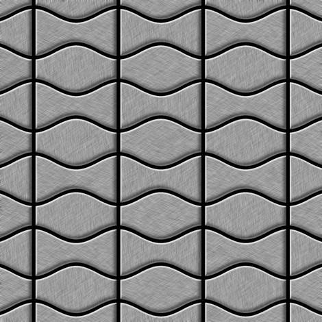 Mosaic tile massiv metal Stainless Steel marine brushed grey 1.6mm thick ALLOY Kismet & Karma-S-S-MB designed by Karim Rashid