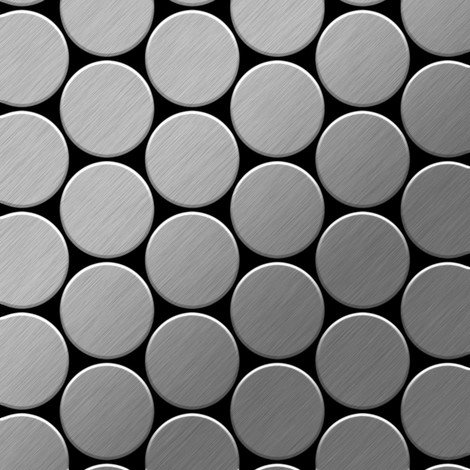 Mosaic tile massiv metal Stainless Steel marine brushed grey 1.6mm thick ALLOY Medallion-S-S-MB