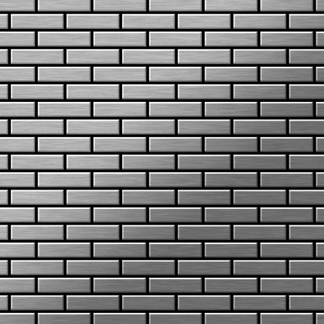 Mosaic tile massiv metal Stainless Steel marine brushed grey 1.6mm thick ALLOY PK-S-S-MB