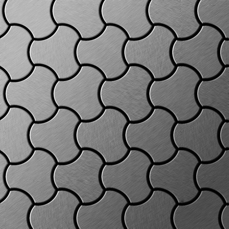 Mosaic tile massiv metal Stainless Steel marine brushed grey 1.6mm thick ALLOY Ubiquity-S-S-MB designed by Karim Rashid