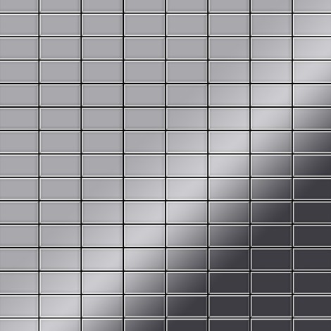 Mosaic tile massiv metal Stainless Steel marine mirror grey 1.6mm thick ALLOY Bauhaus-S-S-MM
