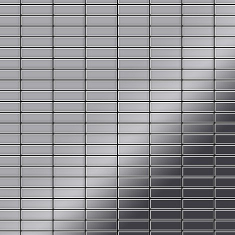 Mosaic tile massiv metal Stainless Steel marine mirror grey 1.6mm thick ALLOY Cabin-S-S-MM