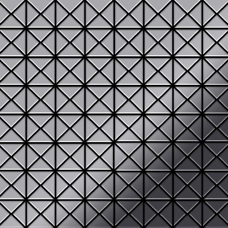 Mosaic tile massiv metal Stainless Steel marine mirror grey 1.6mm thick ALLOY Deco-S-S-MM