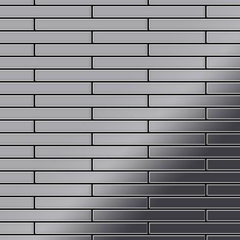 Mosaic tile massiv metal Stainless Steel marine mirror grey 1.6mm thick ALLOY Deedee-S-S-MM