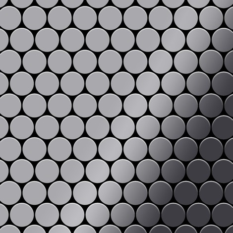 Mosaic tile massiv metal Stainless Steel marine mirror grey 1.6mm thick ALLOY Dollar-S-S-MM