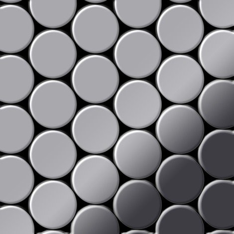 Mosaic tile massiv metal Stainless Steel marine mirror grey 1.6mm thick ALLOY Dome-S-S-MM
