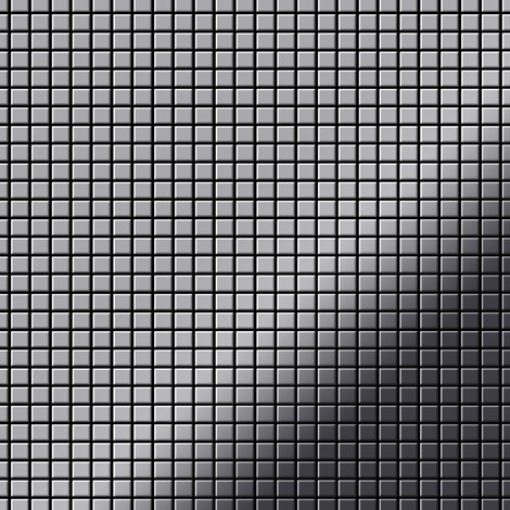 Mosaic tile massiv metal Stainless Steel marine mirror grey 1.6mm thick ALLOY Glomesh-S-S-MM