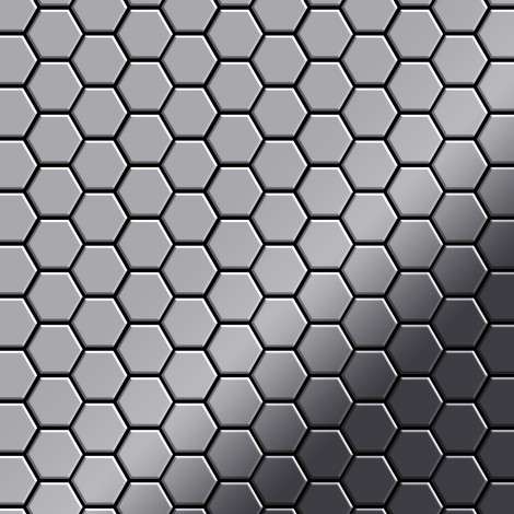Mosaic tile massiv metal Stainless Steel marine mirror grey 1.6mm thick ALLOY Honey-S-S-MM