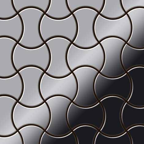 Mosaic tile massiv metal Stainless Steel marine mirror grey 1.6mm thick ALLOY Infinit-S-S-MM designed by Karim Rashid