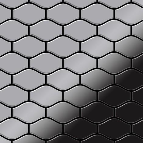 Mosaic tile massiv metal Stainless Steel marine mirror grey 1.6mm thick ALLOY Karma-S-S-MM designed by Karim Rashid