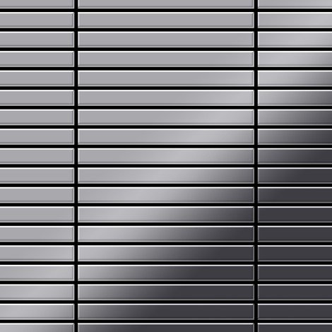 Mosaic tile massiv metal Stainless Steel marine mirror grey 1.6mm thick ALLOY Linear-S-S-MM