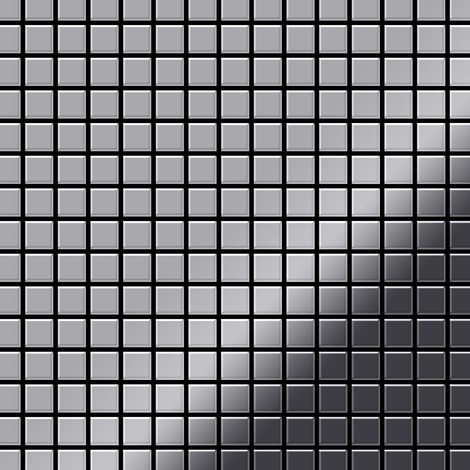 Mosaic tile massiv metal Stainless Steel marine mirror grey 1.6mm thick ALLOY Mosaic-S-S-MM
