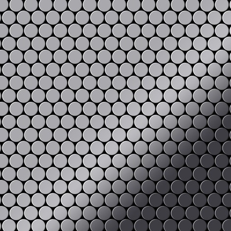 Mosaic tile massiv metal Stainless Steel marine mirror grey 1.6mm thick ALLOY Penny-S-S-MM