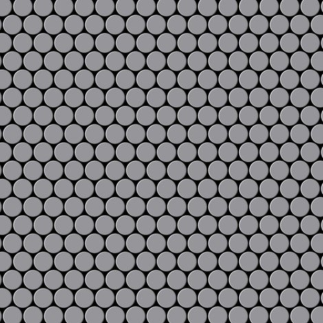 Mosaic tile massiv metal Stainless Steel matt grey 1.6mm thick ALLOY Penny-S-S-MA
