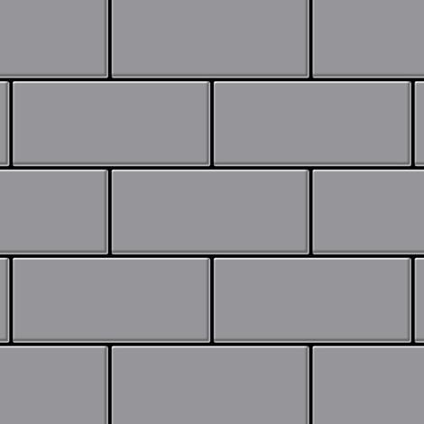 Mosaic tile massiv metal Stainless Steel matt grey 1.6mm thick ALLOY Subway-S-S-MA