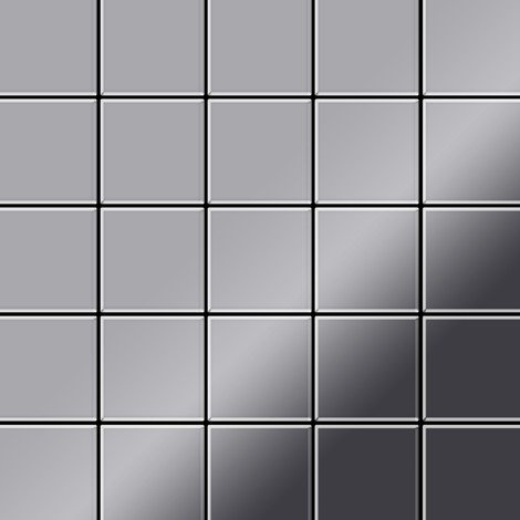 Mosaic tile massiv metal Stainless Steel mirror grey 1.6mm thick ALLOY Century-S-S-M