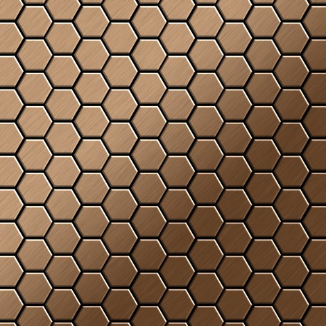 Mosaic tile massiv metal Titanium Amber brushed copper 1.6mm thick ALLOY Honey-Ti-AB