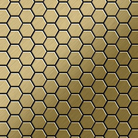 Mosaic tile massiv metal Titanium Gold brushed gold 1.6mm thick ALLOY Honey-Ti-GB