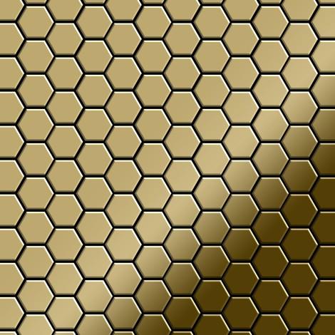 Mosaic tile massiv metal Titanium Gold mirror gold 1.6mm thick ALLOY Honey-Ti-GM