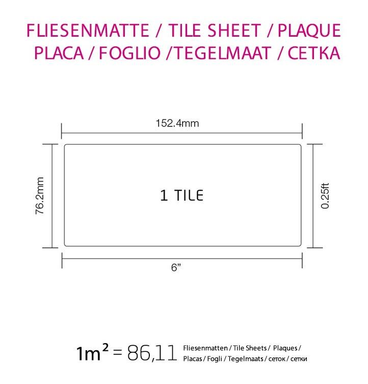 Mosaic tile massiv metal Titanium Smoke brushed dark grey 1 6mm thick ALLOY  Subway-Ti-SB