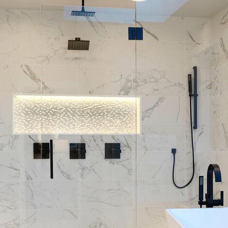 Mosaic Warehouse Calacatta Luxe Mosaic Tile Sheet 300mm x 300mm
