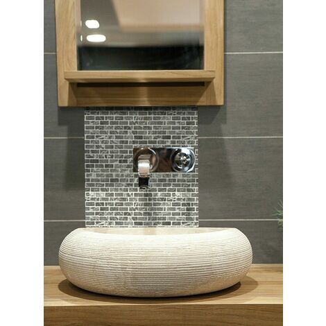 Mosaic Warehouse Grey Brick Mosaic Tile Sheet 300mm x 300mm