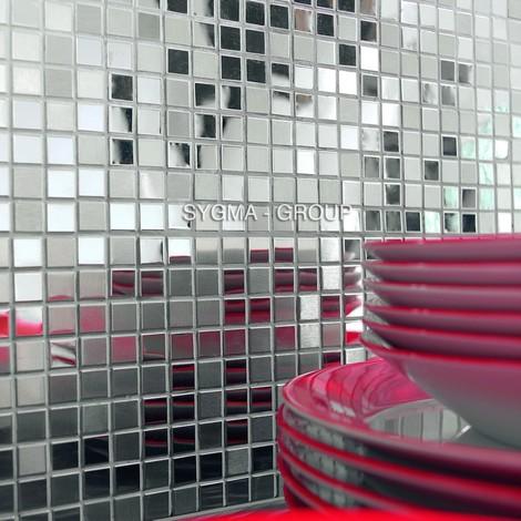 mosaico acero inoxidable cocina y baño Fusion