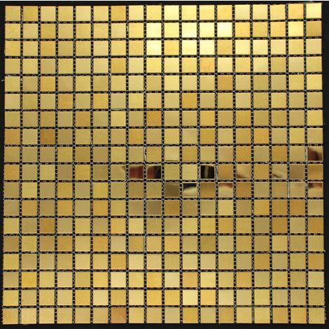 mosaico acero inoxidable cocina y baño Fusion Or