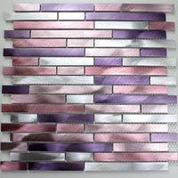 mosaico alluminio spazzolato metallo cucina ma-ble-vio