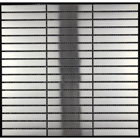 mosaico azulejo de acero inoxidable Lignus 100