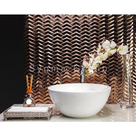 mosaico de acero metal azulejo para pared de cocina y baño Vernet