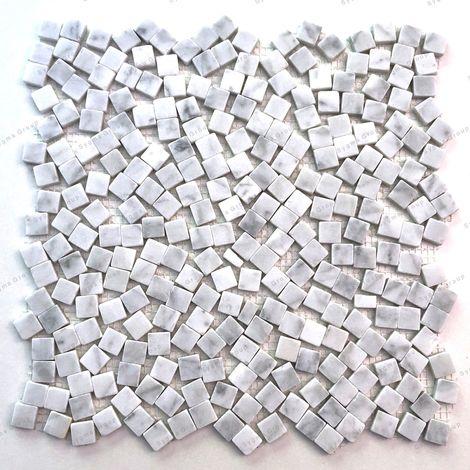 Mosaico de mármol baldosas de mármol Sultan Blanc