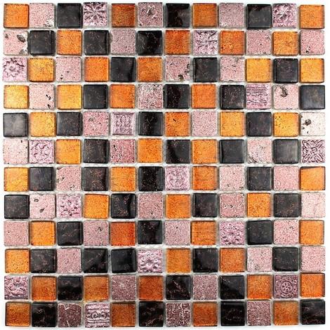 mosaico de piedra y baño de cristal Alliage Cafe