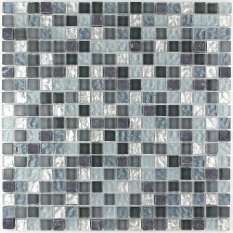 mosaico de piedra y baño de cristal mvep-mezzo