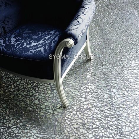 mosaico de vidrio gravilla para pared y suelo mv-osm-chr
