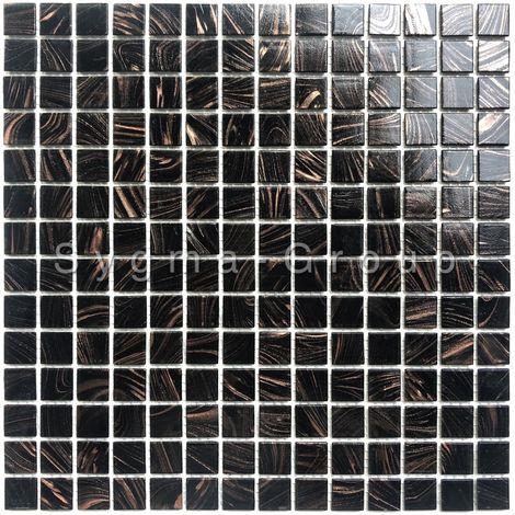 mosaico de vidrio para baño y ducha Speculo Noir
