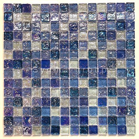 mosaico de vidrio para pared y suelo Arezo Cyan