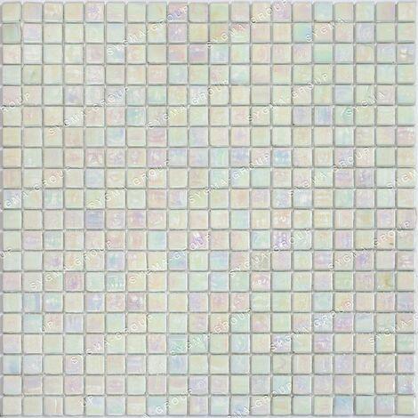 mosaico di vetro per pavimenti e rivestimenti Imperial Blanc