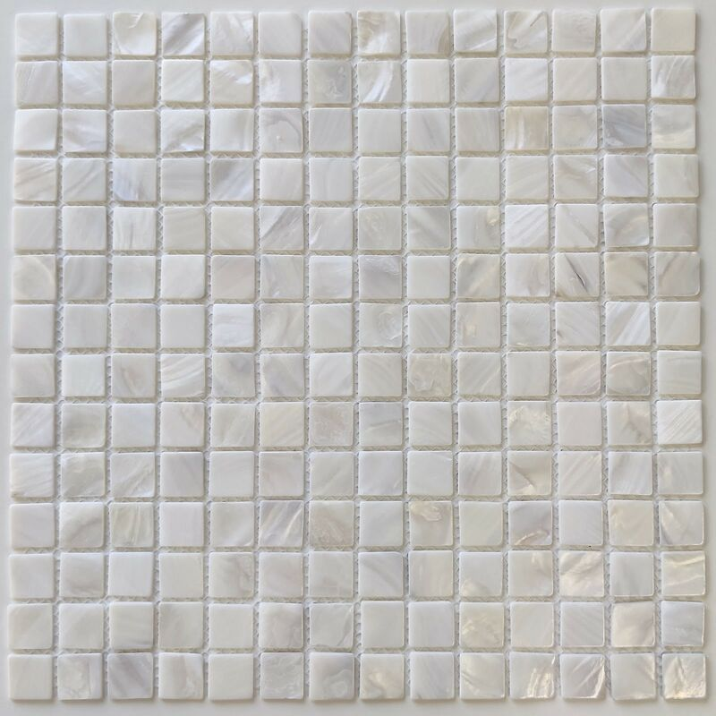 Sygma Group - mosaico e piastrella in madreperla per bagno e doccia Nacarat Blanc