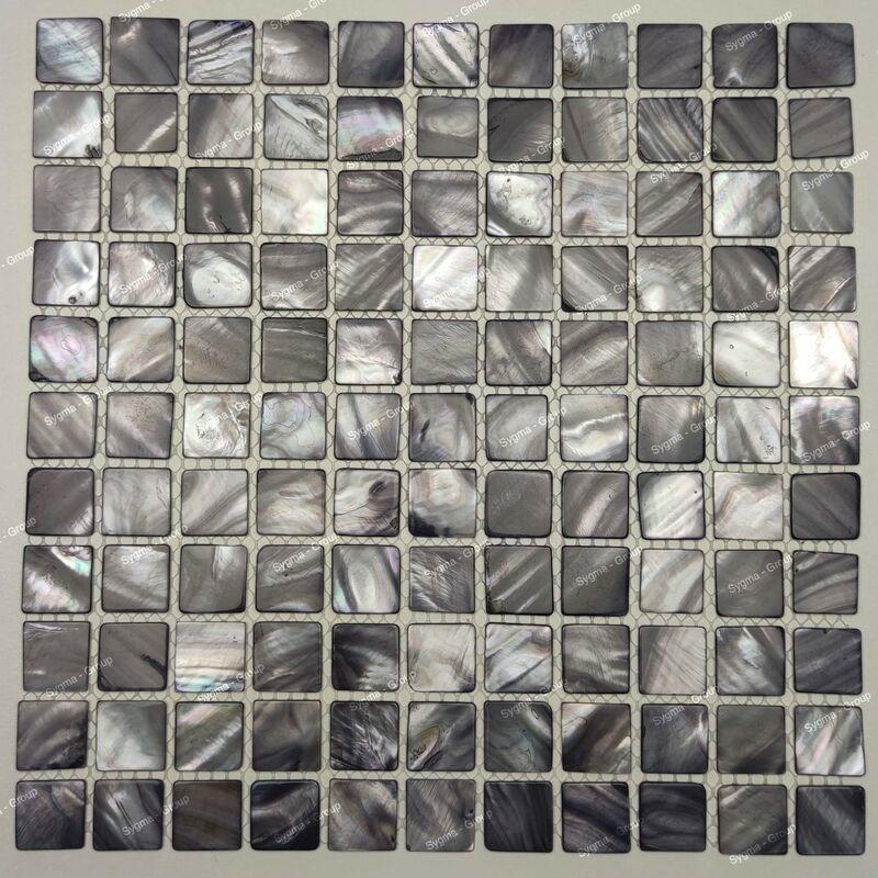 Sygma Group - mosaico e piastrella in madreperla per bagno e doccia Nacarat Gris