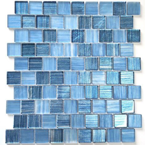 mosaico economico vetro per parete e pavimento mv-driobleu