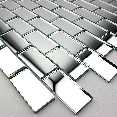 mosaico espejo de cristal de la ducha y el baño mv-ref-bri-neu