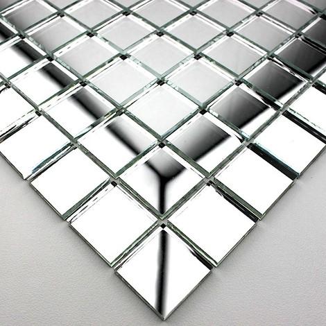 mosaico espejo de cristal de la ducha y el baño Optic neutre