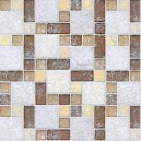 Mosaico in marmo e vetro Pitagora Spazio 30 X 30 cm