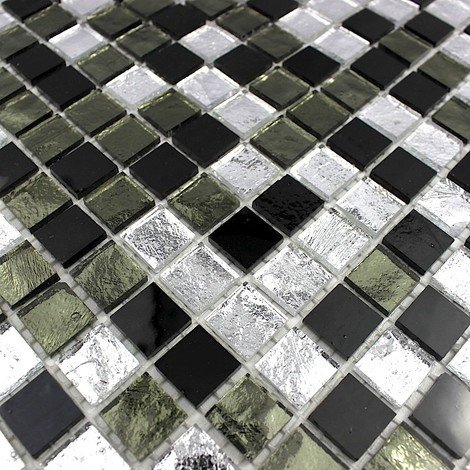mosaico piastrelle cucina e bagno mv-glo-ner