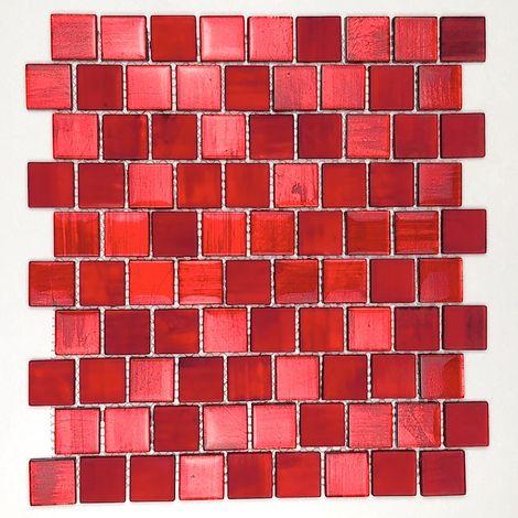 Mosaicos baldosas de vidrio baño y cocina drio-rouge