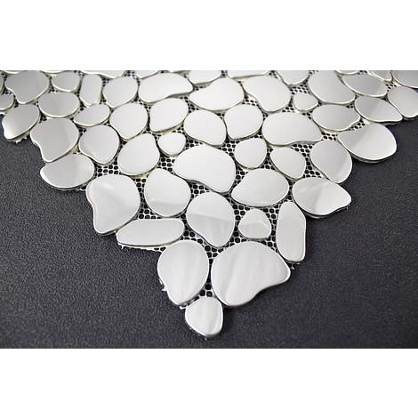 mosaicos de acero inoxidable De suelos y paredes de ducha y baño mi-gal-mir
